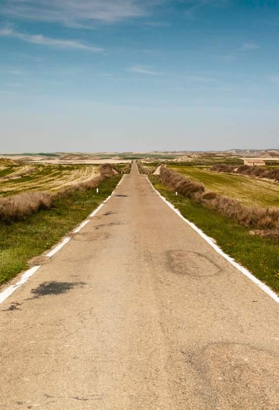 Los Monegros desde la carretera